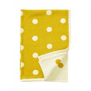 Klippan Yllefabriken100 % Ekologisk Chenillefilt  90x140 cm Dots Kids Yellow