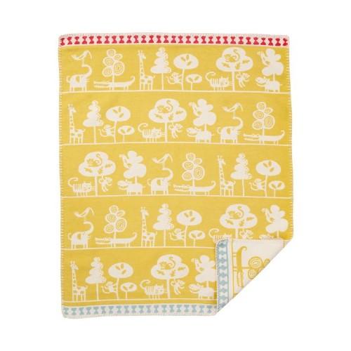 Klippan Yllefabrik 100 %  Brushed Organic Cotton Blanket Serengeti
