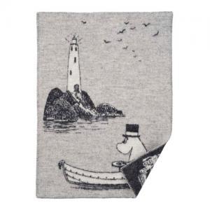 Klippan Wool factory 100% Organic Wool Blanket Moomin Lighthouse