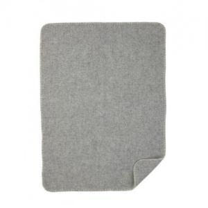 Klippan Yllefabrik 100% Organic Wool blanket Baby light gray - Gray