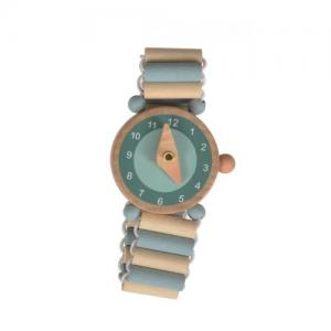 Klocka i Trä Armbandsklocka Blå 3+ år