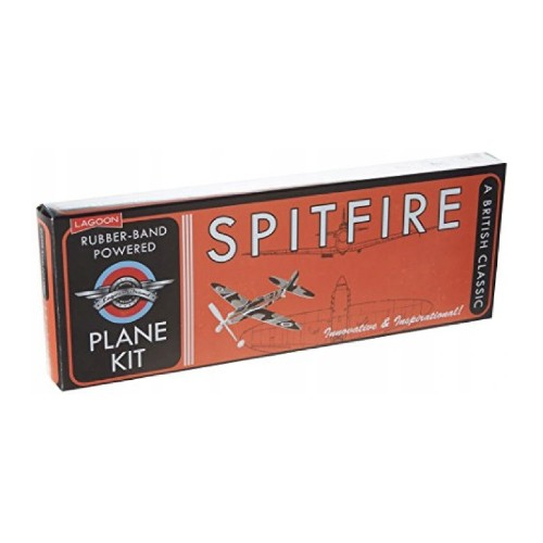 Lagoon Rubber-Band Powered Spitfire 8+ år Vintage Planet