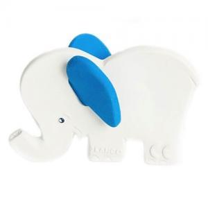 Lanco Toys Bitleksak 100 % Naturgummi Elefant Blå Öron