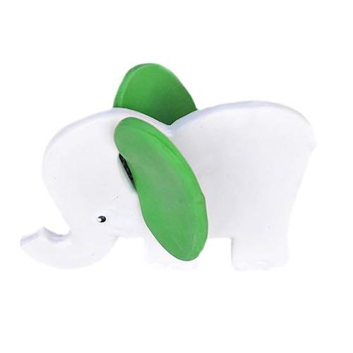 Lanco Toys Bitleksak 100 % Naturgummi Elefant Grön Öron