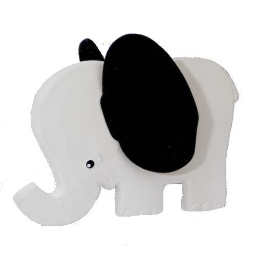 Lanco Toys Bitleksak 100 % Naturgummi Elefant Svarta Öron