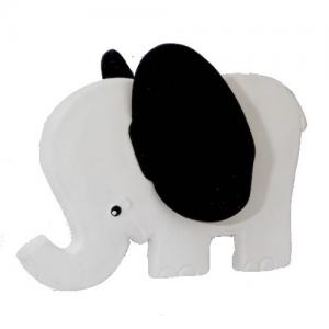 Lanco Toys Teether 100% Natural Rubber Elephant Black Ears