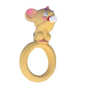 Lanco Toys Teether Ring 100% Natural Rubber Mouse