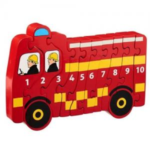 Lanka Kade Fair Trade Puzzle Fire Engine Numbers 1-10
