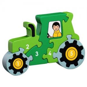 Lanka Kade Fair Trade Puzzle Tractor Numbers 1-5