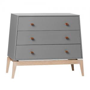 Leander Luna Dresser Byrå Grå / Ek