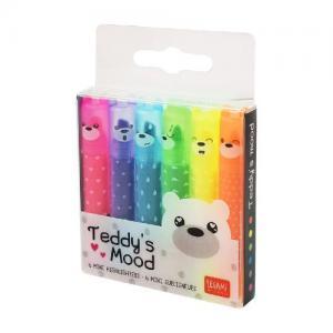 Legami Teddy's Mood 6 Mini Överstrykningspennor