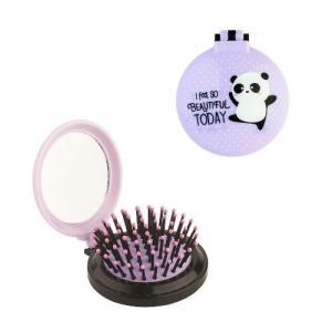 Legami Foldable Hair Brush Panda