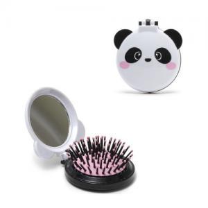 Legami Foldable Hair Brush Panda White / Black