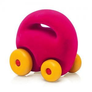 Rubbabu Natural Foam Rubber Mascot Car Pink