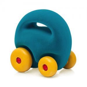 Rubbabu Natural Foam Rubber Mascot Car Turquoise