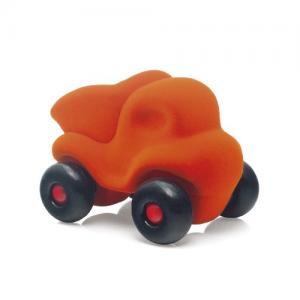 Leklyckan Rubbabu Naturlig Skumgummi Mellan Avfallsbil Orange