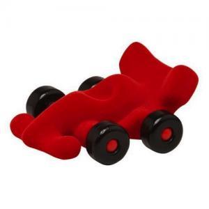 Leklyckan Rubbabu Naturlig Skumgummi Mellan Bil Racer Röd