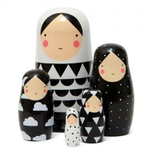 Leklyckan Russian Doll Black/White