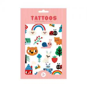 Leklyckan Temporary Tattoos Forest Friends
