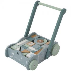 Little Dutch Toy Stroller With Blocks Blue