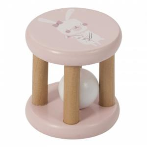 Little Dutch wooden roller rattle Adventure Pink