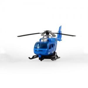 Magni Helikopter City Med Pullback Blå