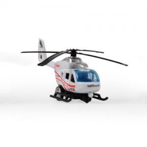 Magni Helikopter City Med Pullback Vit
