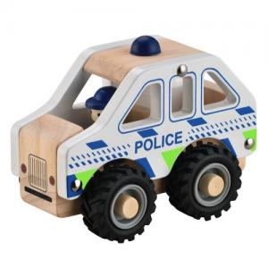 Magni Police Car With Rubber Wheels White