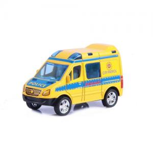 Magni Pull Back Toy Yellow Police Car