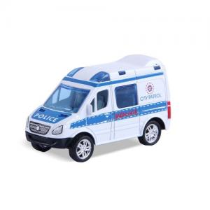 Magni Pull Back Toy White Police Car