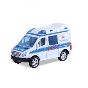 Magni Pull-back Fordon Polisbil Vit