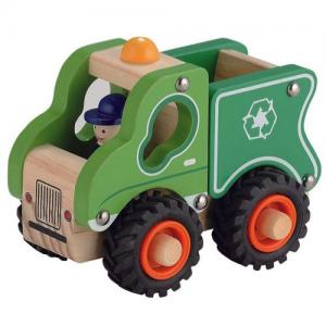 Magni Garbage Truck With Rubber Wheels Green