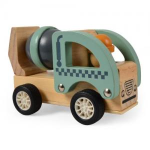 Magni Wooden Toys Work Car Pull-back Cement Mixer