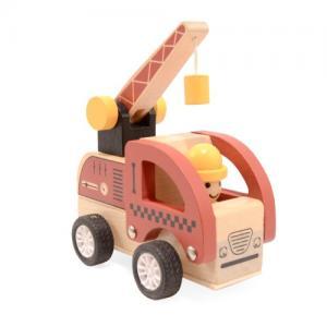 Magni Wooden Toys Work Car Pull-back Crane Truck