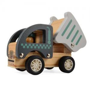Magni Wooden Toys Work Car Pull-back Tipper Truck