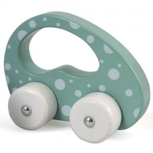 Magni Wooden Car With Dots Green