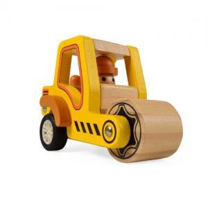 Magni Wooden Toys Work Car Pull-back Road Roller