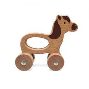 Magni Wooden Animal on wheels Horse  1+ years
