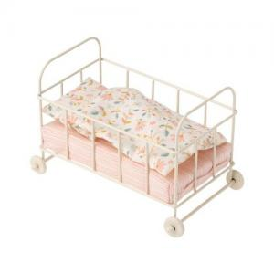 Maileg Bed Baby Cot Metal Micro
