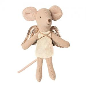 Maileg Fairy Mouse, Little Sister Ljusgul