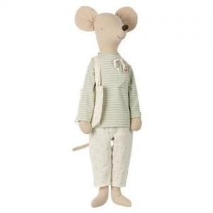 Maileg Mega Mouse in Nightwear Mint