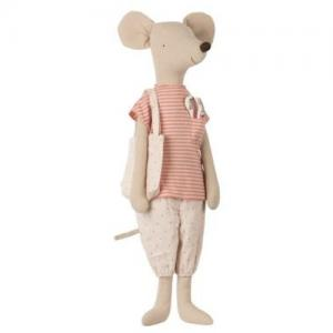 Maileg Mega Mouse in Nightwear Rose