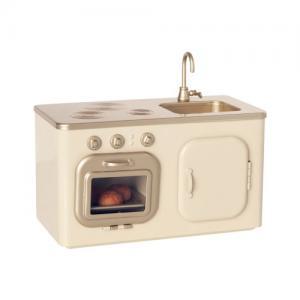 Maileg Miniature Kitchen Spis inkl Diskho i Metall