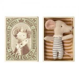 Maileg Mus Baby Mouse Sleepy/ Wakey In Box - Boy
