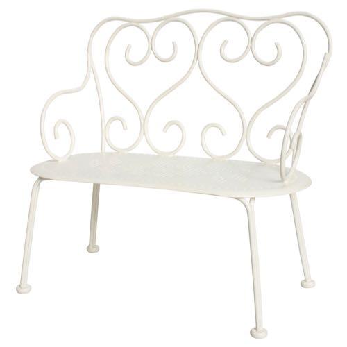 Maileg Romantic Bench Mini Off White