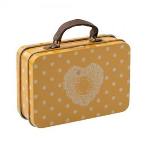 Maileg Resväska Suitcase Metal Yellow Dot