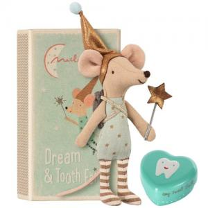 Maileg Tooth Fairy Big Brother Mouse w metal box