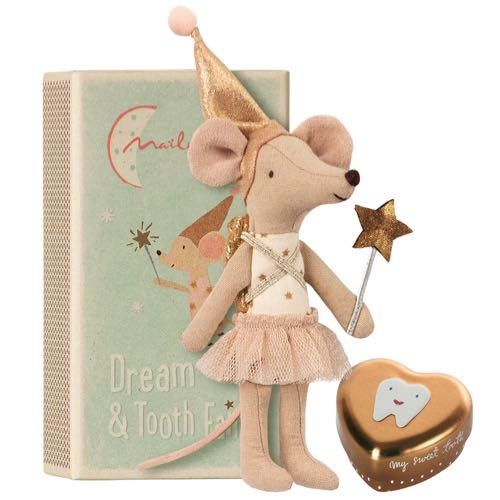 Maileg Tooth Fairy Big Sister Mouse w metal box