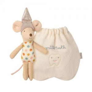 Maileg Tooth Fairy Mouse, Little Tandfe I En Tygpåse