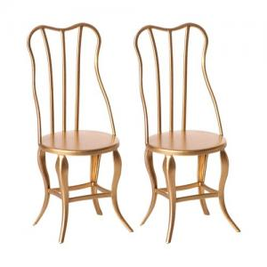 Maileg Vintage Chair Micro Gold 2-pack